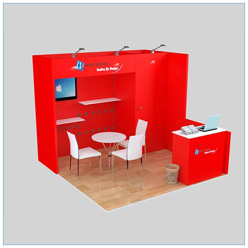 10x10 Trade Show Booth Rental Package 139 - LV Exhibit Rentals in Las Vegas