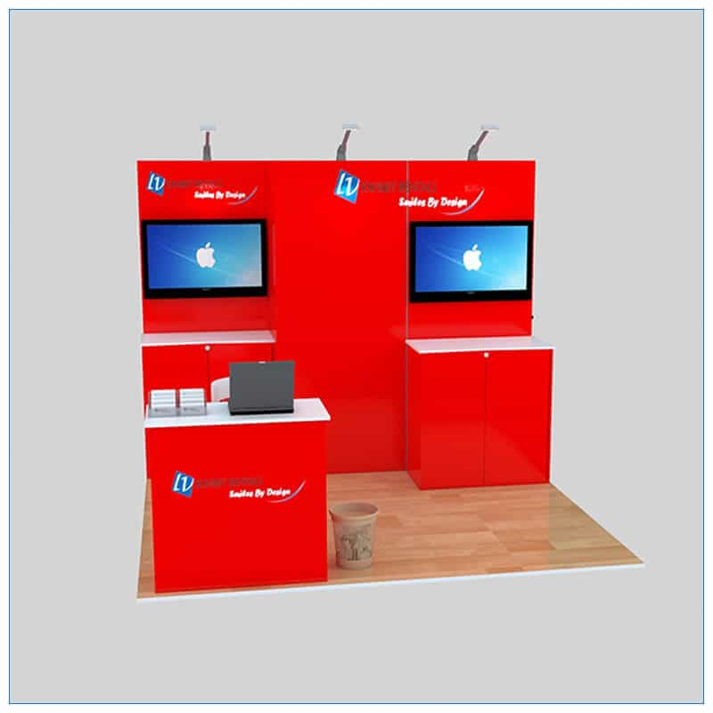 10x10 Trade Show Booth Rental Package 140 - Angle View 2 - LV Exhibit Rentals in Las Vegas