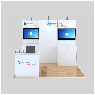 10x10 Trade Show Booth Rental Package 140 - Front View - LV Exhibit Rentals in Las Vegas