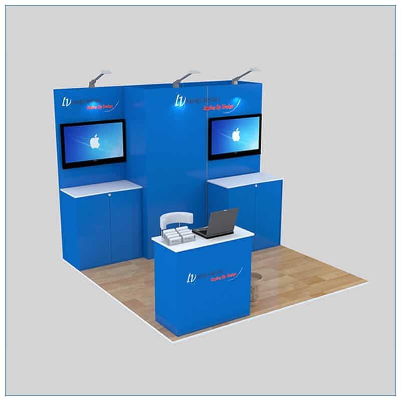 10x10 Trade Show Booth Rental Package 140 - LV Exhibit Rentals in Las Vegas