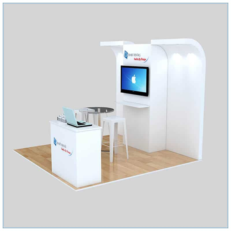 10x10 Trade Show Booth Rental Package 141- Angle View 2 - LV Exhibit Rentals in Las Vegas