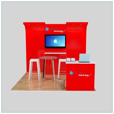 10x10 Trade Show Booth Rental Package 141- Front View - LV Exhibit Rentals in Las Vegas