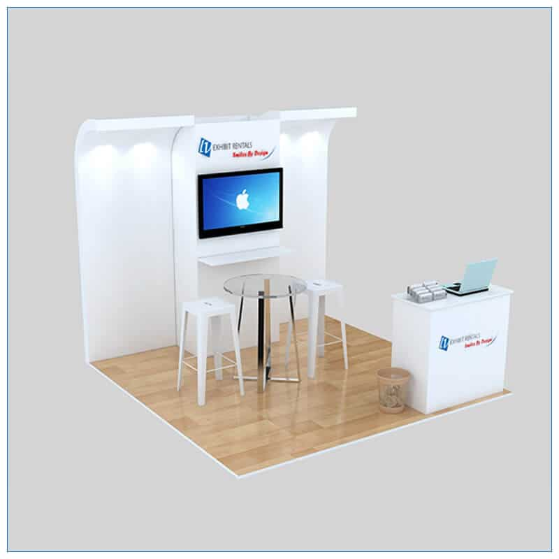 10x10 Trade Show Booth Rental Package 141- LV Exhibit Rentals in Las Vegas