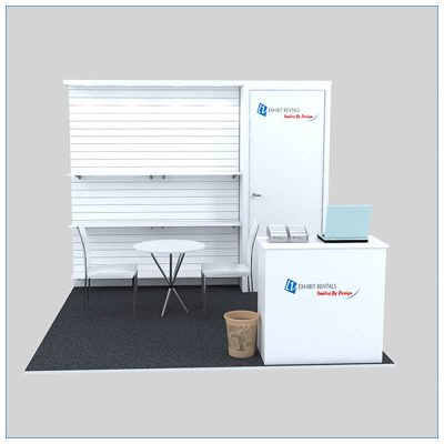 10x10 Trade Show Booth Rental Package 142- Front View - LV Exhibit Rentals in Las Vegas