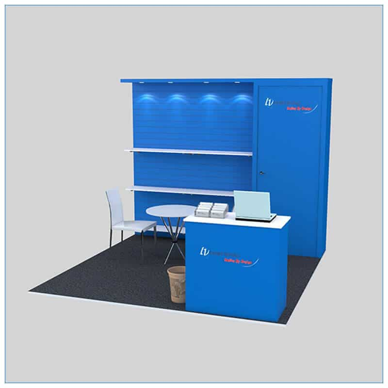 10x10 Trade Show Booth Rental Package 142- LV Exhibit Rentals in Las Vegas