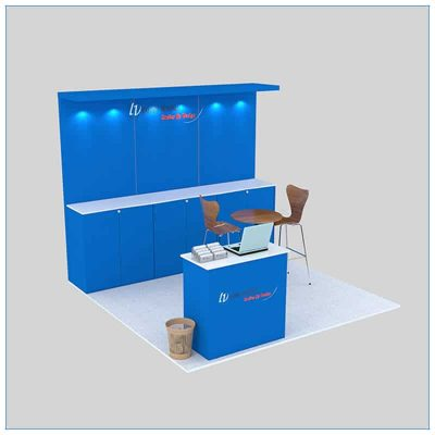 10x10 Trade Show Booth Rental Package 143- Angle View 2 - LV Exhibit Rentals in Las Vegas