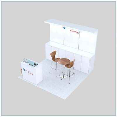 10x10 Trade Show Booth Rental Package 143- Angle View - LV Exhibit Rentals in Las Vegas