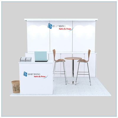 10x10 Trade Show Booth Rental Package 143- Front View - LV Exhibit Rentals in Las Vegas