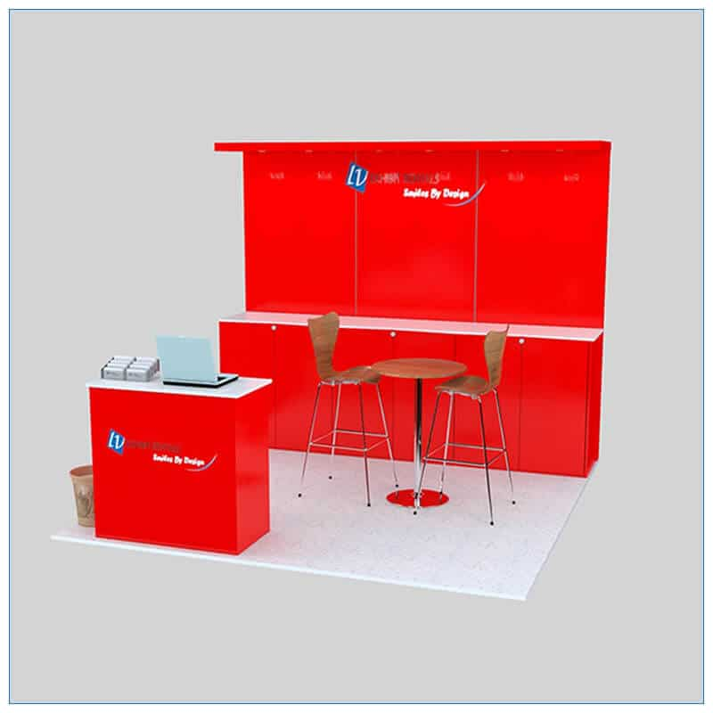 10x10 Trade Show Booth Rental Package 143- LV Exhibit Rentals in Las Vegas
