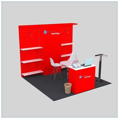 10x10 Trade Show Booth Rental Package 144 - Angle View 2 - LV Exhibit Rentals in Las Vegas