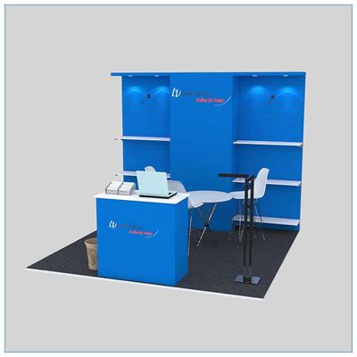 10x10 Trade Show Booth Rental Package 144 - LV Exhibit Rentals in Las Vegas