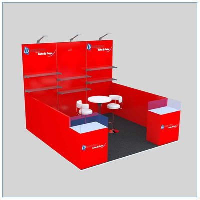 10x10 Trade Show Booth Rental Package 146 - Angle View 2 - LV Exhibit Rentals in Las Vegas