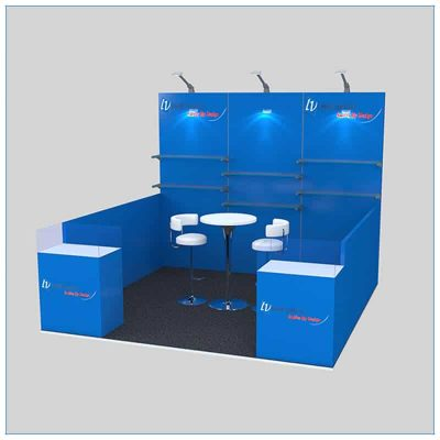 10x10 Trade Show Booth Rental Package 146 - LV Exhibit Rentals in Las Vegas
