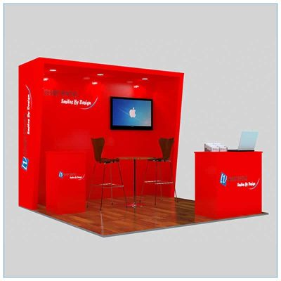 10x10 Trade Show Booth Rental Package 147- Angle View 2 - LV Exhibit Rentals in Las Vegas