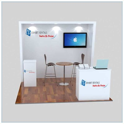 10x10 Trade Show Booth Rental Package 147- Front View - LV Exhibit Rentals in Las Vegas
