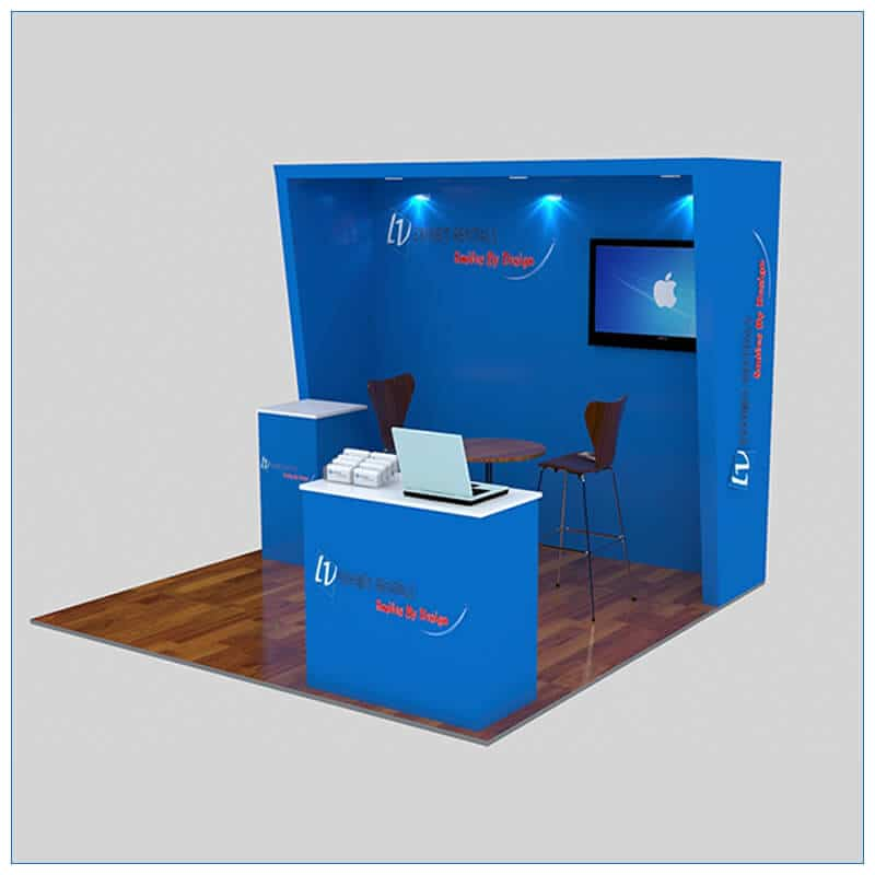 10x10 Trade Show Booth Rental Package 147- LV Exhibit Rentals in Las Vegas