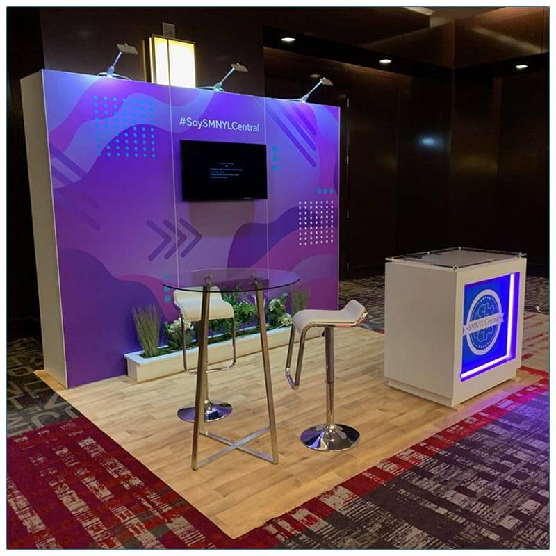 10x10 Trade Show Booth Rental Package 148 - Angle View - LV Exhibit Rentals in Las Vegas