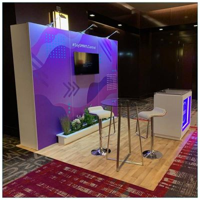 10x10 Trade Show Booth Rental Package 148 - Side Angle View - LV Exhibit Rentals in Las Vegas