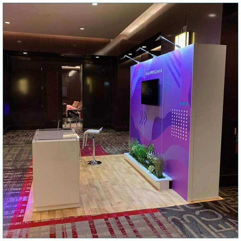 10x10 Trade Show Booth Rental Package 148 - Side View - LV Exhibit Rentals in Las Vegas