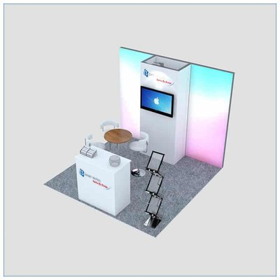 10x10 Trade Show Booth Rental Package 149 - Angle View 2 - LV Exhibit Rentals in Las Vegas