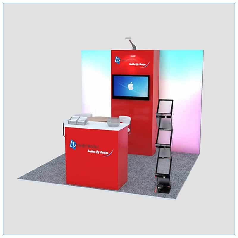 10x10 Trade Show Booth Rental Package 149 - Front View - LV Exhibit Rentals in Las Vegas