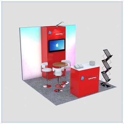 10x10 Trade Show Booth Rental Package 149- LV Exhibit Rentals in Las Vegas