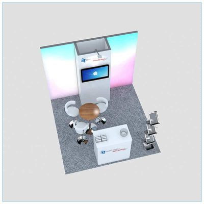 10x10 Trade Show Booth Rental Package 149 - Top-Down - LV Exhibit Rentals in Las Vegas