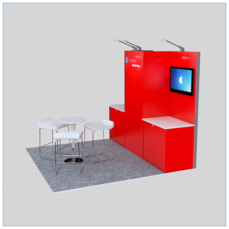10x10 Trade Show Booth Rental Package 150 - Angle View 2 - LV Exhibit Rentals in Las Vegas