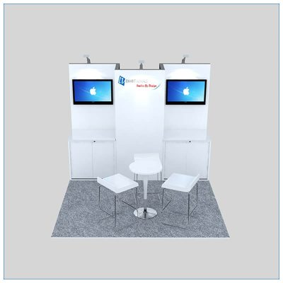 10x10 Trade Show Booth Rental Package 150 - Front View - LV Exhibit Rentals in Las Vegas