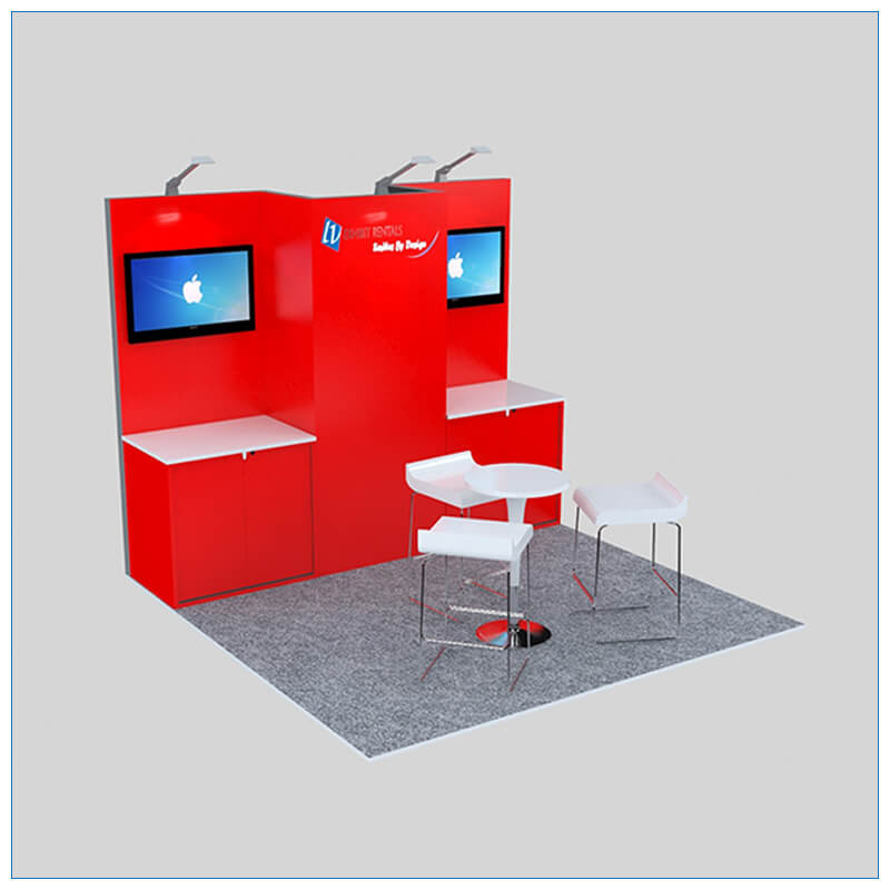 10x10 Trade Show Booth Rental Package 150 - LV Exhibit Rentals in Las Vegas