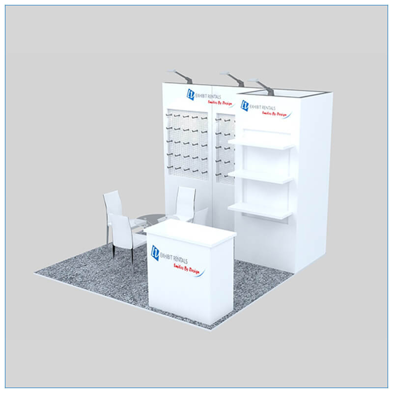 10x10 Trade Show Booth Rental Package 151 - Angle View 2 - LV Exhibit Rentals in Las Vegas