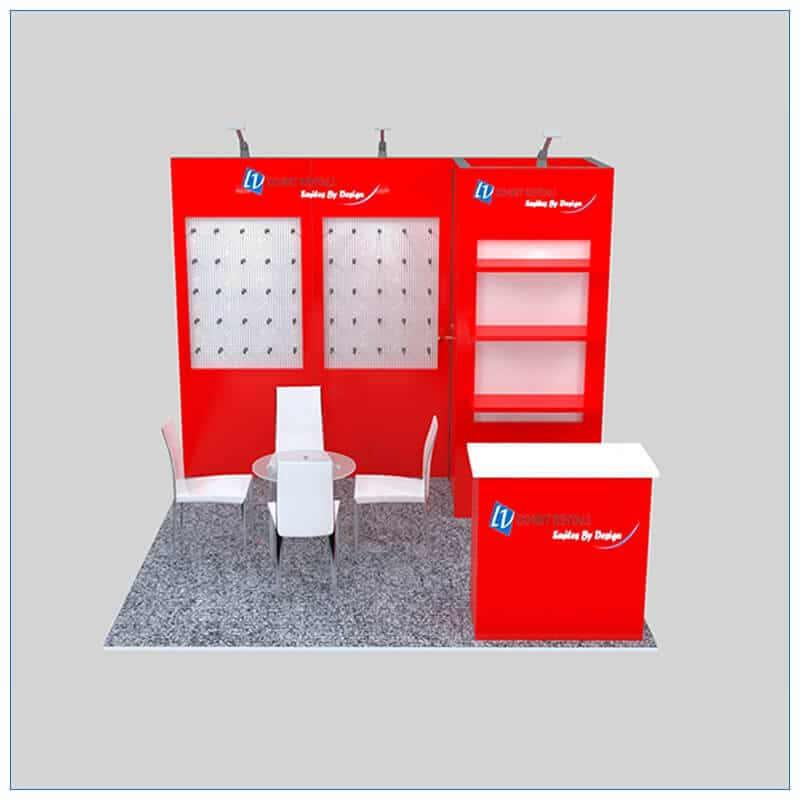 10x10 Trade Show Booth Rental Package 151 - Front View - LV Exhibit Rentals in Las Vegas
