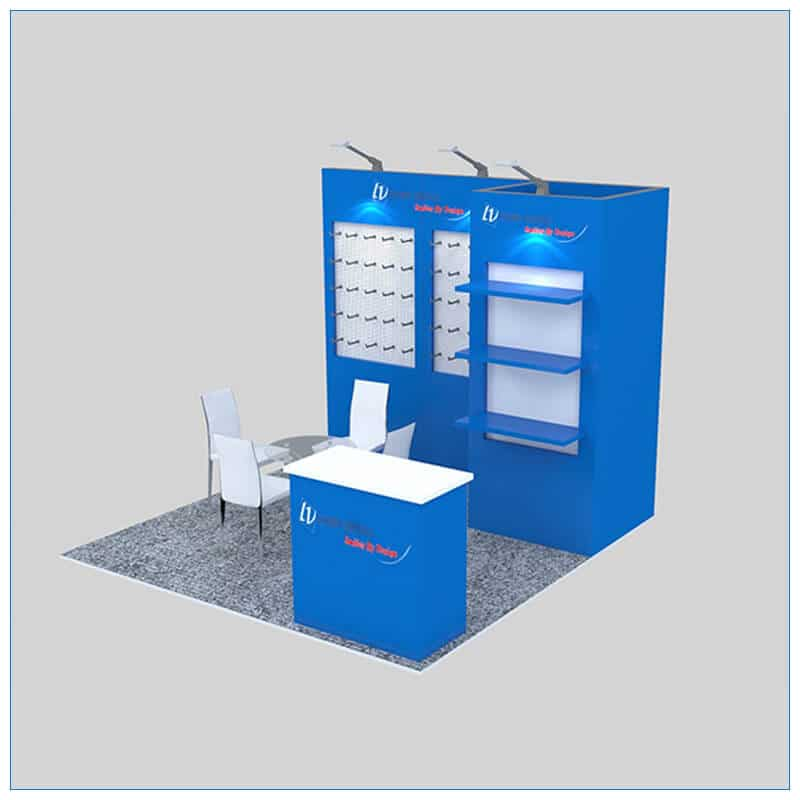 10x10 Trade Show Booth Rental Package 151- LV Exhibit Rentals in Las Vegas