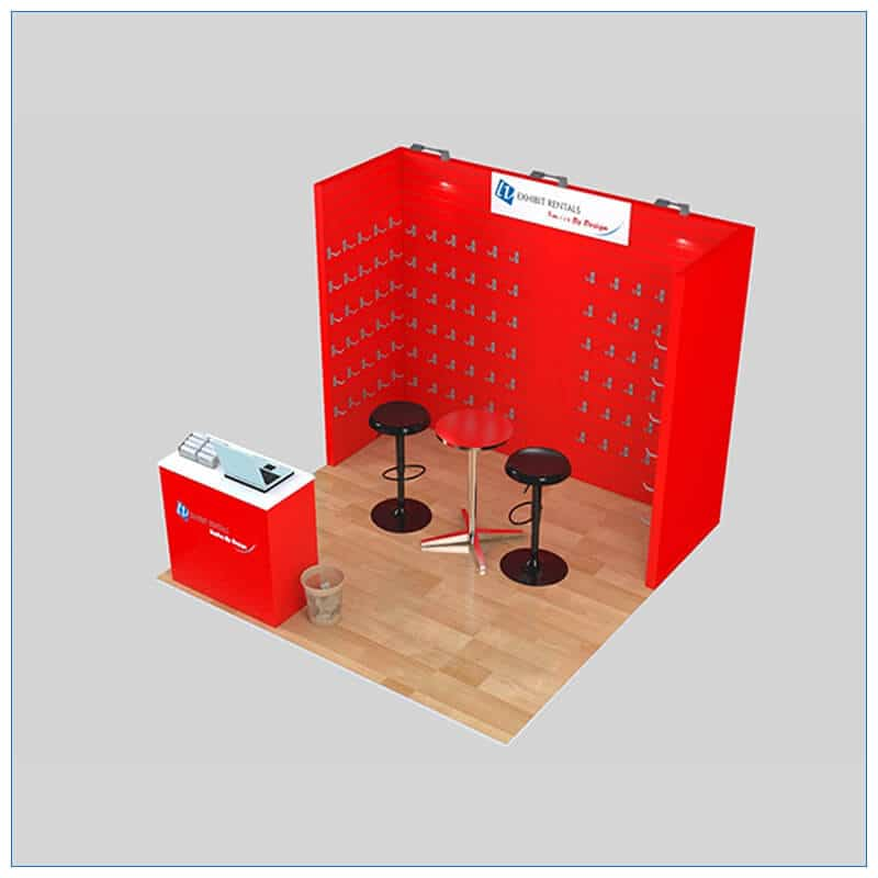 10x10 Trade Show Booth Rental Package 152 - Angle View 2 - LV Exhibit Rentals in Las Vegas