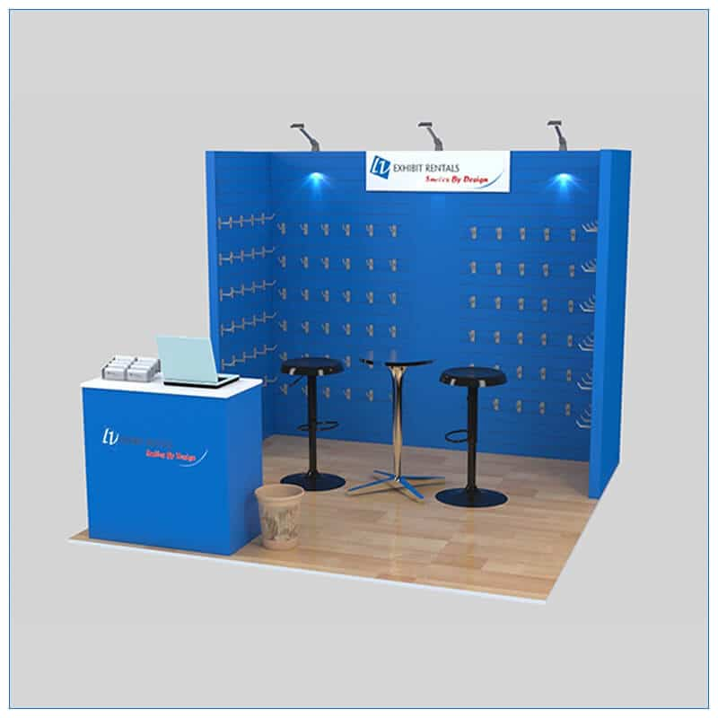 10x10 Trade Show Booth Rental Package 152- LV Exhibit Rentals in Las Vegas