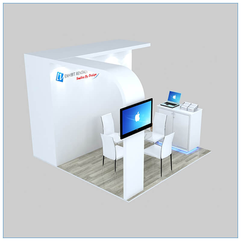 10x10 Trade Show Booth Rental Package 153 - Angle View - LV Exhibit Rentals in Las Vegas