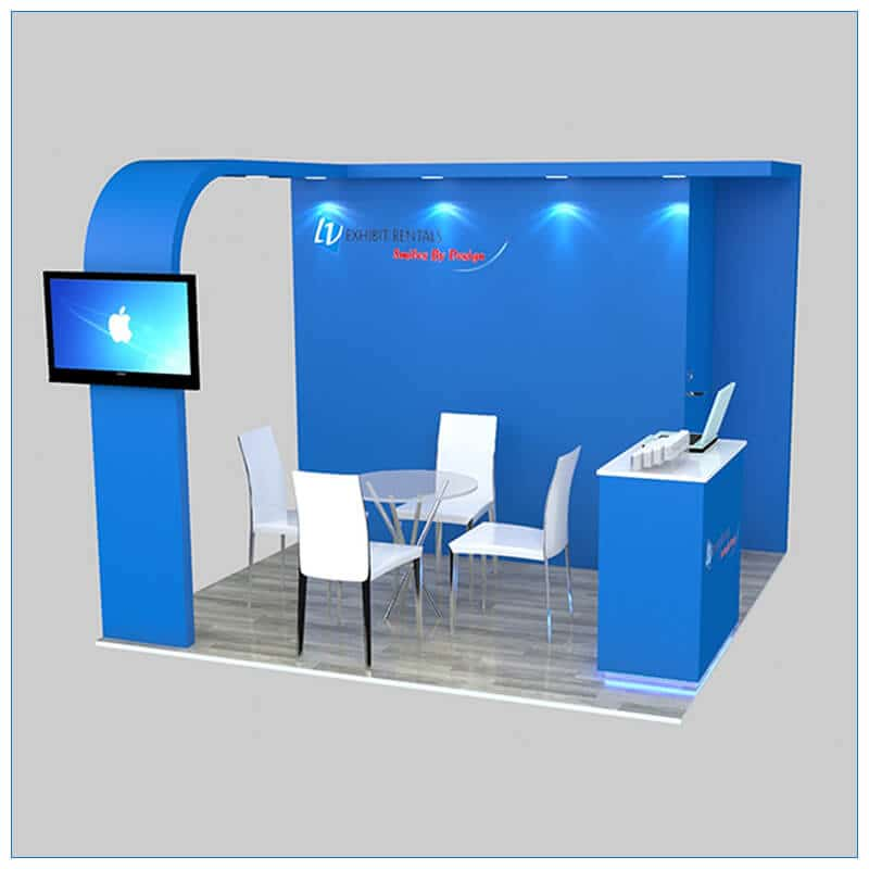 10x10 Trade Show Booth Rental Package 153 - LV Exhibit Rentals in Las Vegas