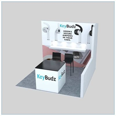10x10 Trade Show Booth Rental Package 154 - Angle View 2 - LV Exhibit Rentals in Las Vegas