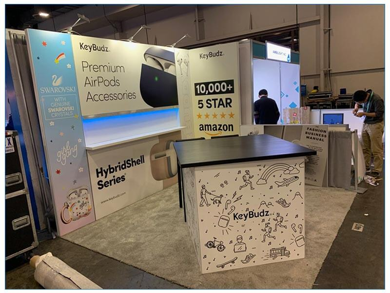 10x10 Trade Show Booth Rental Package 154 - CES 2020 - LV Exhibit Rentals in Las Vegas