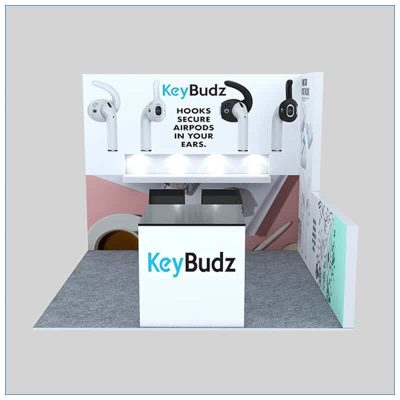 10x10 Trade Show Booth Rental Package 154 - Front View - LV Exhibit Rentals in Las Vegas