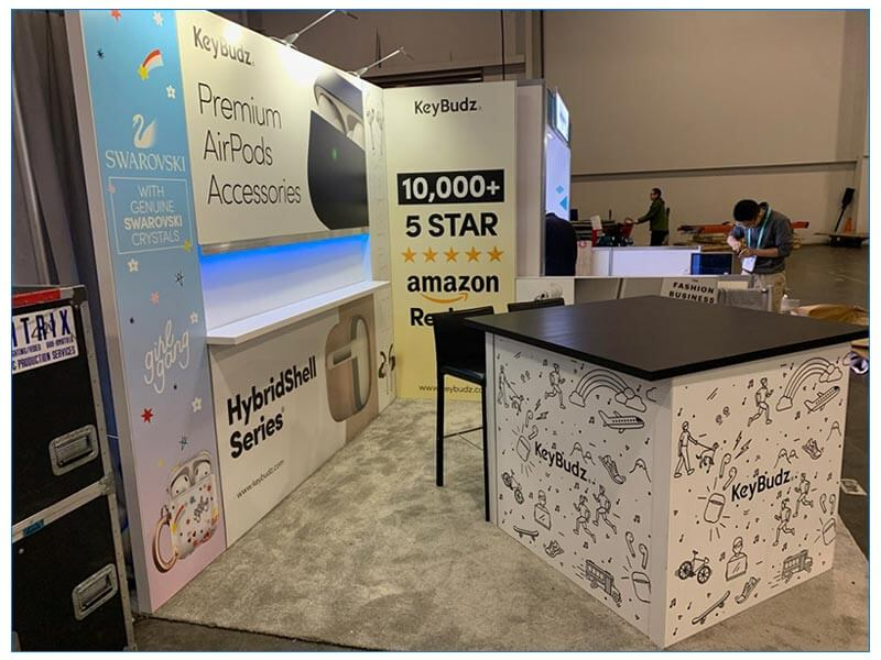 10x10 Trade Show Booth Rental Package 154 - Side View - CES 2020 - LV Exhibit Rentals in Las Vegas