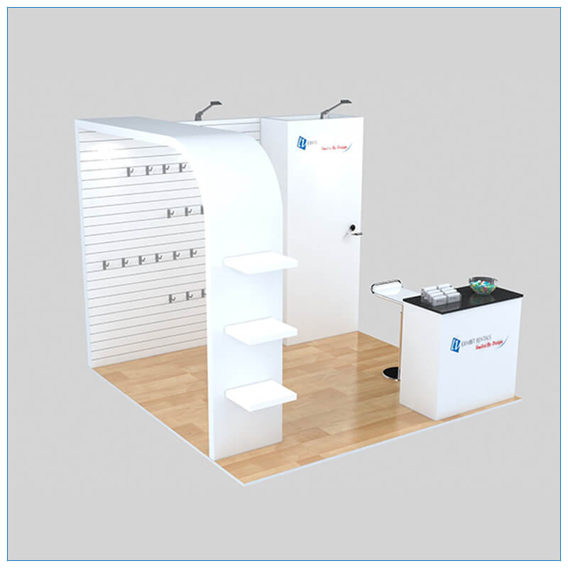 10x10 Trade Show Booth Rental Package 155 - Angle View 3 - LV Exhibit Rentals in Las Vegas