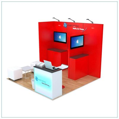 10x10 Trade Show Booth Rental Package 156 - LV Exhibit Rentals in Las Vegas