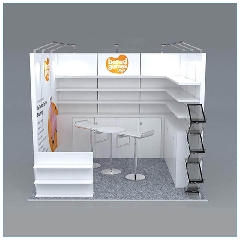 10x10 Trade Show Booth Rental Package 157 - LV Exhibit Rentals in Las Vegas