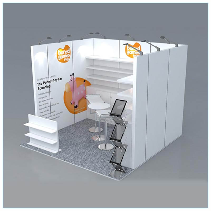 10x10 Trade Show Booth Rental Package 157 - Left Angle View - LV Exhibit Rentals in Las Vegas