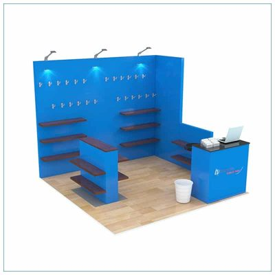 10x10 Trade Show Booth Rental Package 158 - LV Exhibit Rentals in Las Vegas