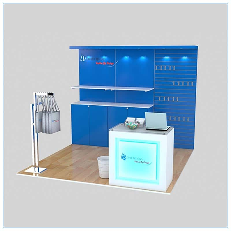10x10 Trade Show Booth Rental Package 159 - LV Exhibit Rentals in Las Vegas