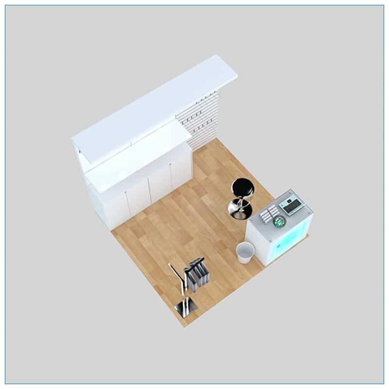 10x10 Trade Show Booth Rental Package 159 - Top-Down View - LV Exhibit Rentals in Las Vegas