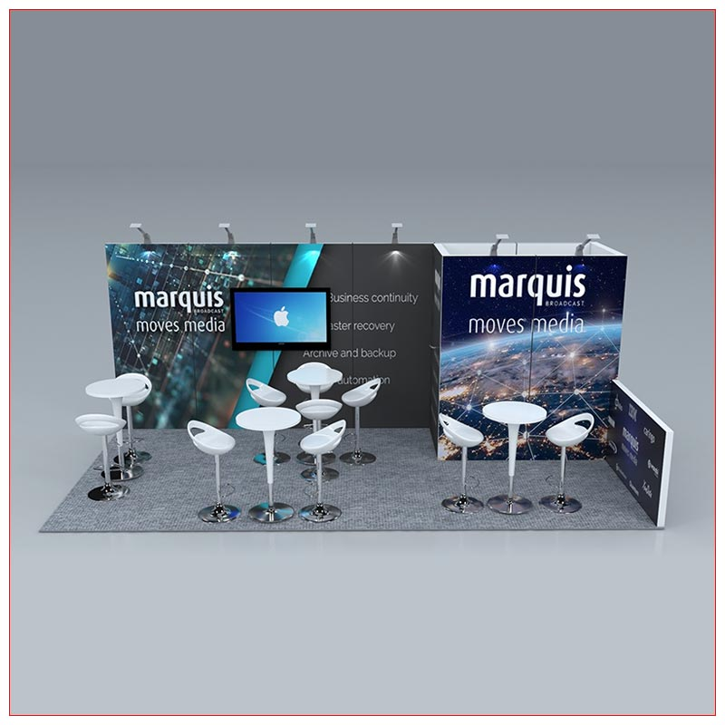 10x20 Trade Show Booth Rental Package 248 - Front View - LV Exhibit Rentals in Las Vegas