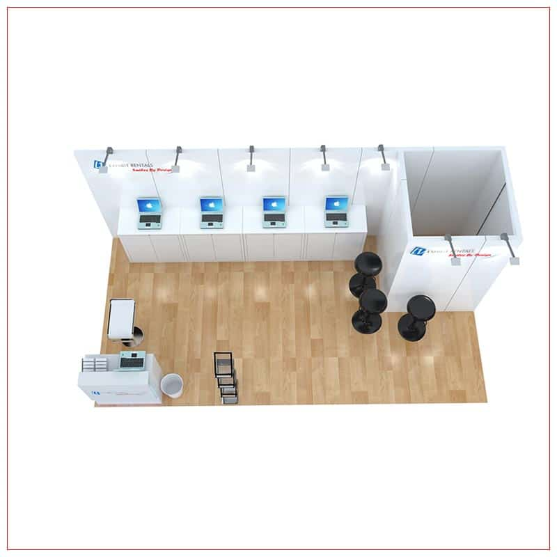 10x20 Trade Show Booth Rental Package 249 - Top-Down View - LV Exhibit Rentals in Las Vegas